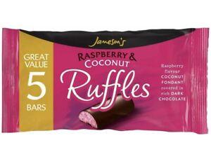 Jamesons Raspberry & Coconut Ruffles 26g 5 Bars.