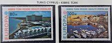 2X Timbre Stamp Chypre Nord Turks Cyprus Kibris 1977 YT 32 33 EUROPA CEPT Neufs