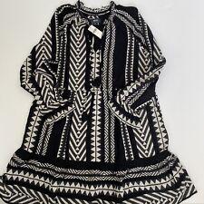 Anthropologie Maeve Dominique Tunic Dress Black White Size Small New $168