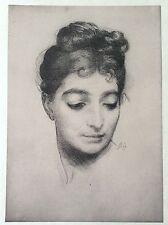 Félix BRACQUEMOND (1833-1914) Portrait L'estampe Moderne art nouveau XIXe