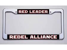 """STAR WARS FANS!  """"RED LEADER/REBEL ALLIANCE"""" LICENSE PLATE FRAME"""