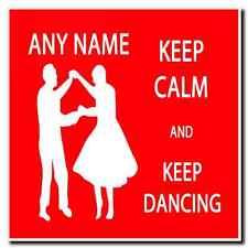 Mantenere la calma e mantenere DANCING personalizzata bevande Mat Coaster