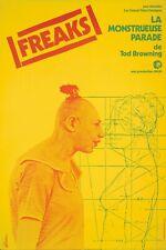 Original Vintage Póster Freaks Francés Película 1977 Tod Browning