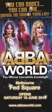 ABBA WORLD EXHIBITION 2010 Melbourne Fed Square Promo brochure