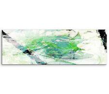 Leinwandbild Panorama blau grün schwarz creme Paul Sinus Abstrakt_763_150x50cm