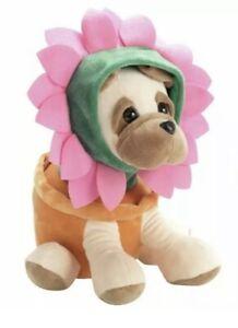 Flower Pug Rufus Soft Toy Plush Dog Animal Toy, Birthday Gift, Same Day Dispatch