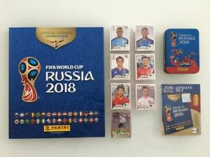Panini Fifa World Cup 2018 Full Set: 1 Hardcover +1 Update Set +1 empty Mini Tin