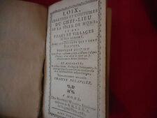 ANONYME - Loix, chartes et coutumes du chef-lieu de la ville de Mons.