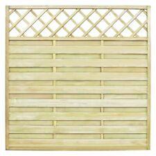 Vidaxl panel de valla cuadrado y enrejado madera pino impregnada cerca Jardin