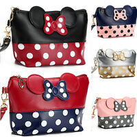 Women Bowknot Polka Dot Travel Cosmetic Make Up Clutch Bag Handbag Toiletry Wash