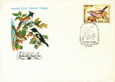 1981 Russian FDC letter cover FAUNA OF THE USSR: white-browed tit-warbler