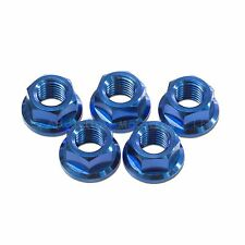 5x Kawasaki ZZR1400 2012-2017 Blue M10x 1.25 Titanium Rear Sprocket Nuts