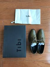 Tibi Carter Oxfords Olive Sz 37