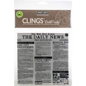 "Hero Arts Cling Stamps 6""X6"" -  Newspaper Bold Prints"