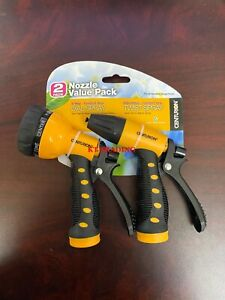 (2-Pack) CENTURION Comfort Grip 7-Ways Multi-Pattern Spray Nozzle ~Fit all Hoses