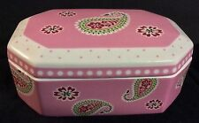 Vera Bradley At Home Jewelry Trinket Keepsake Box Bermuda Pink NWT/No Box