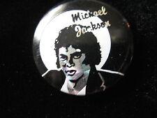Michael Jackson-UK Prism Foil-Black & White-Pin-Badge-Button-80's Vintage-Rare