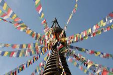 Tibetische Gebetsfahnen,14 x19 cm 5,00 Meter Länge ,Buddhismus,Tibet,