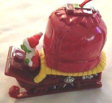"Seuss 3"" Green Grinch in Sleigh Ornament Figurine on Wheels"