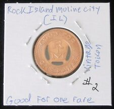 "UNCIRCULATED Vintage Rock Island Moline City (IL) Token ""GOOD FOR ONE FARE"" #2"