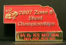 2007 Nssa Logo Zone 5 Skeet Shooting Championship Award Pin Nebraska red Jewelry