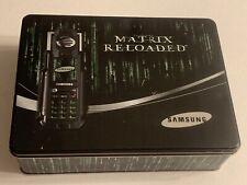 MATRIX Reloaded Samsung Cell Phone Tin Case(Empty Box)