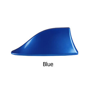 Blue Shark Fin Roof Antenna Aerial FM / AM Radio Signal Decor Car Trim
