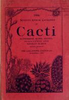 Seventh Annual Catalogue of Cacti - Cdrom Copy Kakteen Katalog Nursery Plants