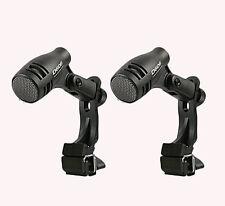2 x PULSE d-606 TOM / RULLANTE Drum Microfono Inc Shock Mount Clip tamburo banda di studio