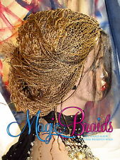 """Hand Braided Lace Front WIG Micro Braids color 27/1 blond 16"""" LIGIA baby hair"""