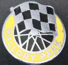 MALLORY PARK Vintage MOTOR RACE CIRCUIT Badge Brooch pin In chrome 18mm x 20mm