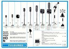catalogo FULGUREX 1985 Signale Strassenlampen N HO Infoblatt        D F IT    aa