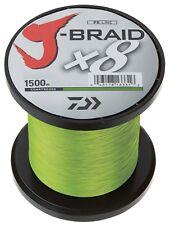 Daiwa J-Braid X8 0,35mm 36,0kg 1500m chartreuse Geflochtene Schnur Angelschnur