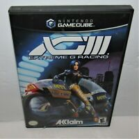 XGIII: Extreme G Racing 3 (Nintendo GameCube, 2001) Complete Tested & Working