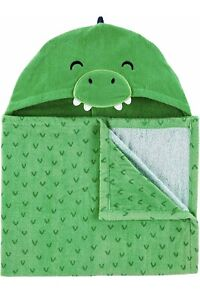 Carter's Character Hooded Wrap For Beach Pool Green Dino Towel 2t-5t