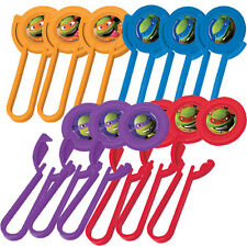 TEENAGE MUTANT NINJA TURTLES DISK LAUNCHERS (12) ~ Birthday Party Supplies Toys