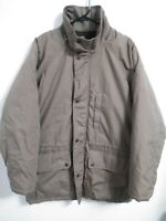 Field & Stream Mens Large Brown Insulated Lined Outdoor Hiking Full Zip Coat