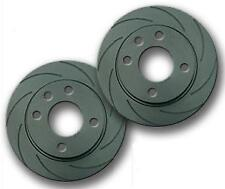 FOR CLIO 172 182 SPORT 01-05 FRONT 8 GROOVED BLACK EDITION BRAKE DISCS 280mm