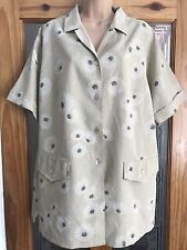 Women's Ladies Top Blouse Floral Size Uk 20