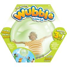 New The Amazing Wubble Bubble Ball - No Pump- Toy Squishy Bounce Fun- Green