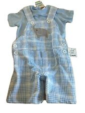 Elephant overalls Outfit Set Boys Size 3-6M First Impressions