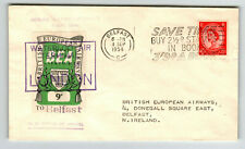 Great Britain 1955 9d Bea Flight Cover / Fdc / to Belfast - Z13743