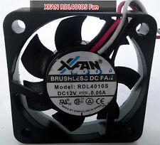 Original XFAN BRUSHLESS RDL4010S Fan DC12V 0.06A 2pin Cooler Cooling Fan Quiet