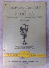 1956 BEDFORD, VA, BIG ISLAND, STONE MOUNTAIN TELEPHONE DIRECTORY, C&P PHONE BOOK