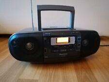 PANASONIC RX-D55A mit Kassettendeck, Radiorecorder, CD, MP3, USB, Schwarz