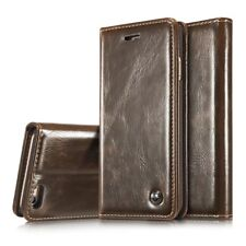 CaseMe Luxury Retro Leather Flip Stand Card Slot Wallet Phone Cases Cover Back