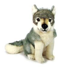 New Ark toys sitting wolf dog soft cuddly toy plush stuffed forest animal