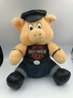 Harley Davidson 1993 Play By Play Pig Hog Plush Soft Stuffed Toy Animal Doll