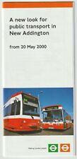 CROYDON TRAMLINK opens to NEW ADDINGTON May 2000 London Bus Services brochure