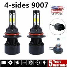 4-Sides 9007/HB5 LED Headlight Kit High Low Dual Beam Bulb 2200W 3600000LM 6000K